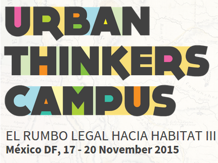 Participación en Urban Thinkers Campus