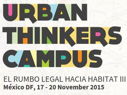 Participación en Urban Thinkers Campus